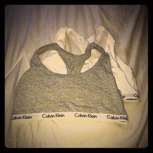 2 Calvin Klein lounge bras- package deal